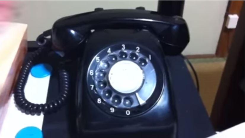 黒電話 使い方 説明 図1